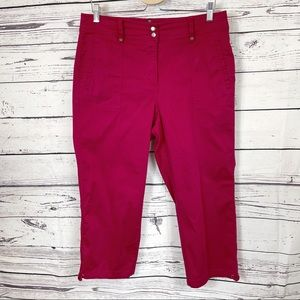 Chico's Raspberry Straight Leg Cropped Pants